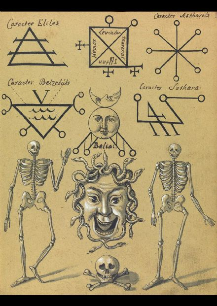 Occult Art: Sigils of the Evil Spirits (Compendium Rarissimum c 1775). Fine Art Print/Poster (4760)